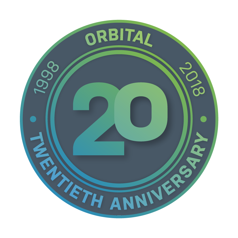 Orbital 20 years badge